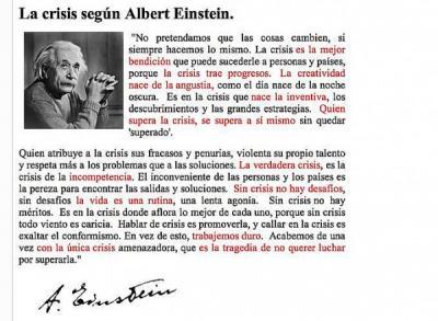La Crisis según Einstein (hoax)